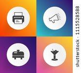 modern  simple vector icon set... | Shutterstock .eps vector #1115528588