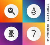 modern  simple vector icon set... | Shutterstock .eps vector #1115528618