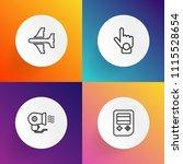 modern  simple vector icon set... | Shutterstock .eps vector #1115528654