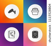 modern  simple vector icon set... | Shutterstock .eps vector #1115528804