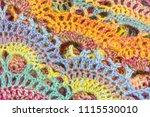 handmade multicolor crochet... | Shutterstock . vector #1115530010