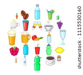 drunkenness icons set. cartoon...   Shutterstock .eps vector #1115530160