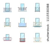 panel icons set. cartoon set of ...   Shutterstock .eps vector #1115530388