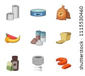 chow icons set. cartoon set of...   Shutterstock .eps vector #1115530460