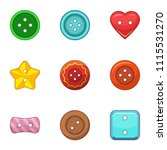 embroidery icons set. cartoon...   Shutterstock .eps vector #1115531270