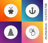 modern  simple vector icon set... | Shutterstock .eps vector #1115531708