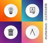 modern  simple vector icon set... | Shutterstock .eps vector #1115531858