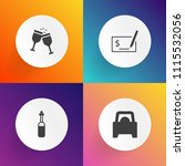 modern  simple vector icon set... | Shutterstock .eps vector #1115532056