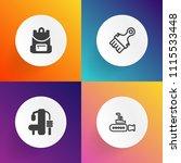 modern  simple vector icon set... | Shutterstock .eps vector #1115533448