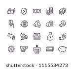 money icons with white... | Shutterstock .eps vector #1115534273