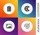 modern  simple vector icon set... | Shutterstock .eps vector #1115535104