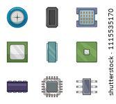 soldering icons set. cartoon...   Shutterstock .eps vector #1115535170