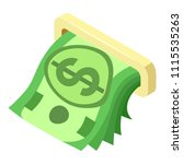 atm cash dollar icon. isometric ... | Shutterstock .eps vector #1115535263
