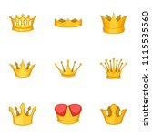 tiara icons set. cartoon set of ...   Shutterstock .eps vector #1115535560