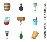 ethanol icons set. cartoon set...   Shutterstock .eps vector #1115536058