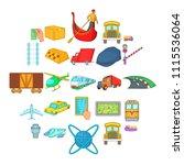 freight transportation icons...   Shutterstock .eps vector #1115536064