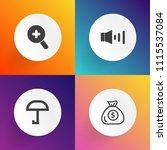 modern  simple vector icon set... | Shutterstock .eps vector #1115537084