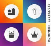 modern  simple vector icon set... | Shutterstock .eps vector #1115537168