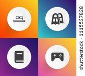 modern  simple vector icon set... | Shutterstock .eps vector #1115537828
