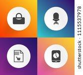 modern  simple vector icon set... | Shutterstock .eps vector #1115537978