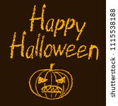 crayon hand drawn funny scary...   Shutterstock .eps vector #1115538188
