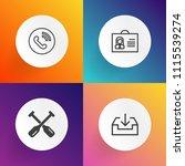 modern  simple vector icon set...   Shutterstock .eps vector #1115539274