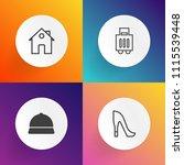 modern  simple vector icon set... | Shutterstock .eps vector #1115539448