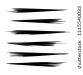vector set of grunge brush... | Shutterstock .eps vector #1115540033