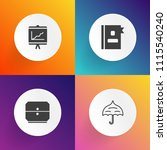 modern  simple vector icon set... | Shutterstock .eps vector #1115540240