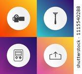 modern  simple vector icon set... | Shutterstock .eps vector #1115540288