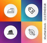modern  simple vector icon set... | Shutterstock .eps vector #1115540318