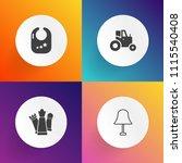 modern  simple vector icon set... | Shutterstock .eps vector #1115540408