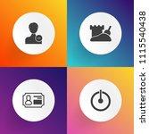 modern  simple vector icon set...   Shutterstock .eps vector #1115540438