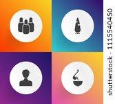 modern  simple vector icon set... | Shutterstock .eps vector #1115540450