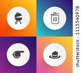 modern  simple vector icon set... | Shutterstock .eps vector #1115540978