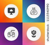 modern  simple vector icon set... | Shutterstock .eps vector #1115540990