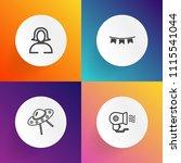 modern  simple vector icon set... | Shutterstock .eps vector #1115541044