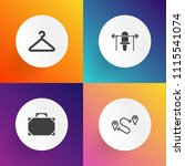 modern  simple vector icon set... | Shutterstock .eps vector #1115541074