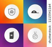 modern  simple vector icon set... | Shutterstock .eps vector #1115541164