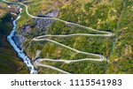 mountain road. myrkdalen ... | Shutterstock . vector #1115541983