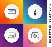 modern  simple vector icon set... | Shutterstock .eps vector #1115541998