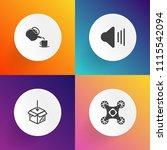 modern  simple vector icon set...   Shutterstock .eps vector #1115542094