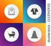 modern  simple vector icon set...   Shutterstock .eps vector #1115542910