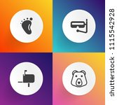 modern  simple vector icon set... | Shutterstock .eps vector #1115542928