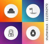 modern  simple vector icon set... | Shutterstock .eps vector #1115542970