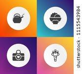 modern  simple vector icon set... | Shutterstock .eps vector #1115543984