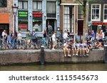 amsterdam  netherlands   july 8 ... | Shutterstock . vector #1115545673