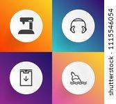 modern  simple vector icon set...   Shutterstock .eps vector #1115546054