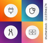 modern  simple vector icon set... | Shutterstock .eps vector #1115546174