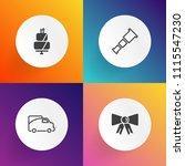 modern  simple vector icon set... | Shutterstock .eps vector #1115547230